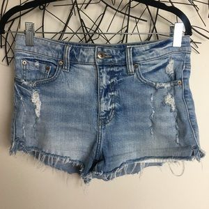 PISTOLA jean cut off distressed shorts 27 blue